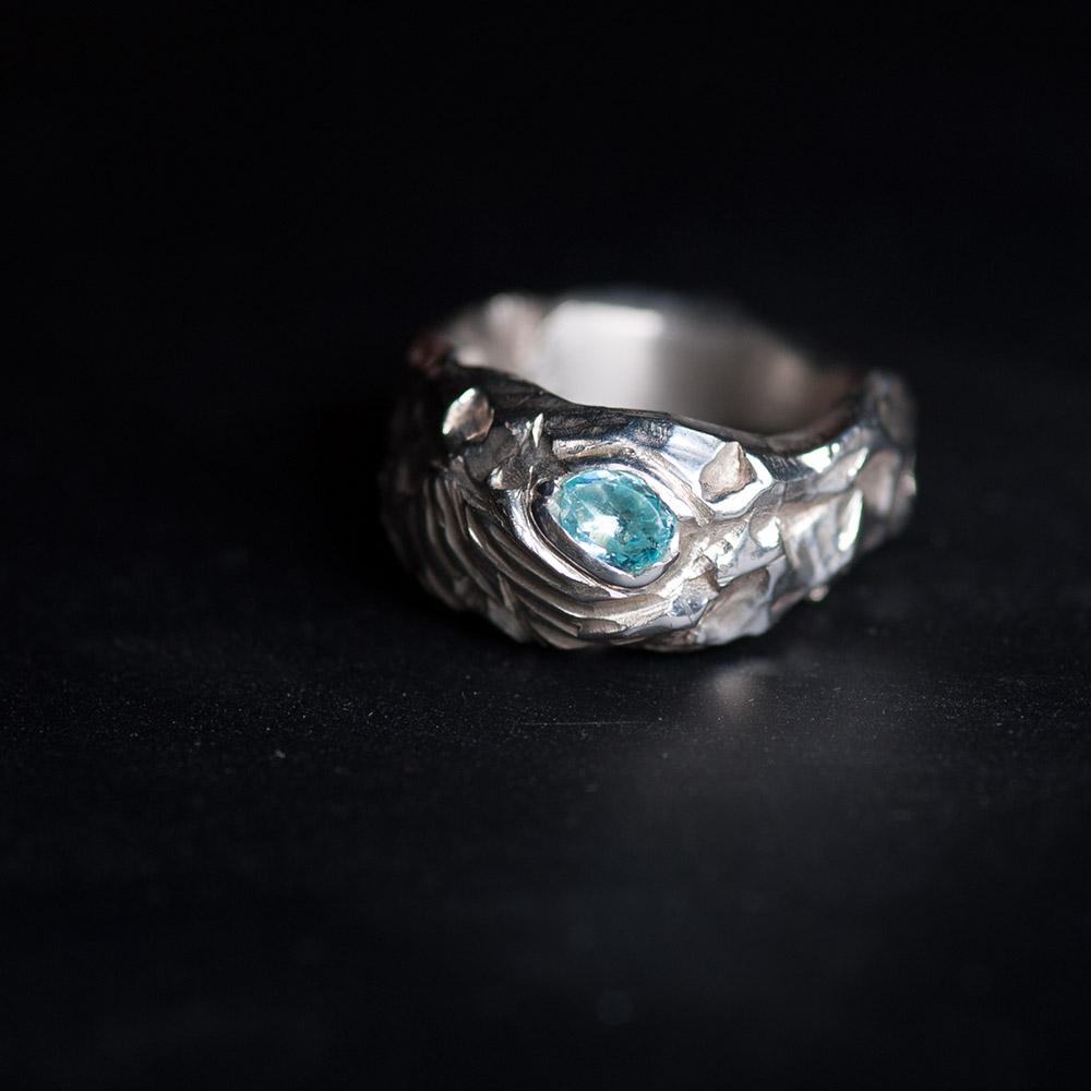 Ring licht turkoois
